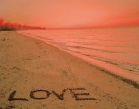 Zand van Liefde stock foto's