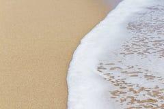Zand van strand Middellandse Zee Royalty-vrije Stock Afbeeldingen