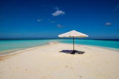 Zandbank in de Maldiven Royalty-vrije Stock Foto's