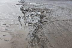 Zandbank in estuarium van rivierzegen, Frankrijk royalty-vrije stock fotografie