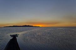 Zandbar in Great Salt Lake royalty-vrije stock afbeelding