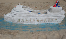 Zandbeeldhouwwerk op het Coney Island-Strand tijdens het 27ste Jaarlijkse Coney Island-Zand die Wedstrijd beeldhouwen Royalty-vrije Stock Afbeeldingen
