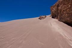 Zandduin in de woestijn/Chili van Atacama royalty-vrije stock fotografie
