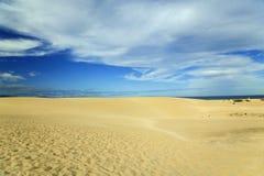 Zandduin in Fuerteventura Royalty-vrije Stock Afbeelding