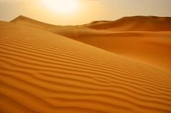 Zandduinen Abu Dhabi Dubai Stock Foto's