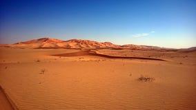 Zandduinen bij Sunset#7: Oneffenheid Al Khali - Panorama stock afbeeldingen
