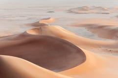 Zandduinen in de woestijn van Oman (Oman) royalty-vrije stock fotografie