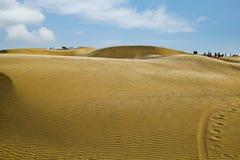 Zandduinen dichtbij Jaisalmer, Rajasthan, India Stock Foto's
