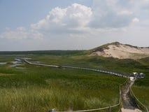 Zandduinen in het Nationale Park van Greenwich, Prins Edward Island, Canada Stock Foto's
