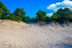 zandduinen, Majorca Stock Foto's