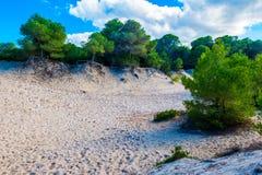 zandduinen, Majorca Stock Afbeeldingen