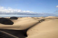 Zandduinen in Maspalomas Stock Afbeelding