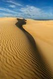 Zandduinen met luchtspiegeling Royalty-vrije Stock Foto's