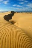 Zandduinen met luchtspiegeling Royalty-vrije Stock Foto