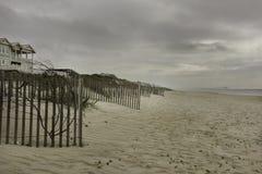 Zandduinen op het strand Stock Afbeelding