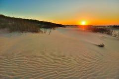 Zandgolven stock fotografie