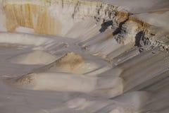 Zandgolven Zandtextuur in de woestijn royalty-vrije stock foto