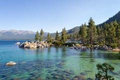 Zandhaven bij Meer Tahoe stock afbeeldingen