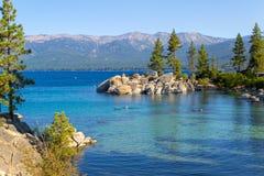 Zandhaven bij Meer Tahoe stock afbeelding
