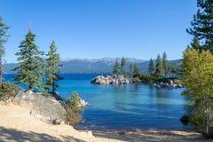 Zandhaven bij Meer Tahoe stock foto