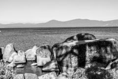 Zandhaven bij Meer Tahoe stock fotografie