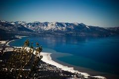 Zandhaven tijdens de winter, Meer Tahoe, de V.S. royalty-vrije stock fotografie