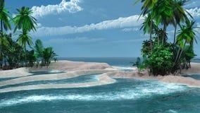Zandig eiland Royalty-vrije Stock Foto's