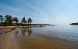 Zandig strand Stock Foto's