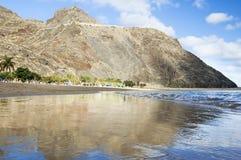 Zandig strand Stock Afbeelding