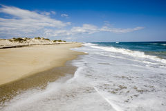 Zandig strand Stock Foto