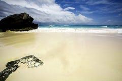 Zandig strand   Stock Afbeeldingen
