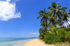 Zandig strand bij Pangaimotu-eiland dichtbij Tongatapu-eiland in Tonga Stock Fotografie