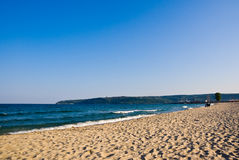 Zandig strand in Bulgarije Royalty-vrije Stock Afbeelding
