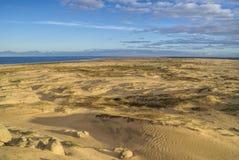 Zandig strand in Cabo Polonio Royalty-vrije Stock Foto's