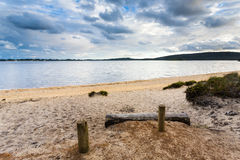 Zandig Strand dichtbij Walpole Stock Foto