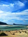 Zandig strand in Kreta Stock Foto
