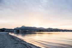 Zandig strand in Mallorca royalty-vrije stock fotografie