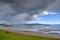 Zandig strand, Redpoint, Wester Royalty-vrije Stock Afbeelding