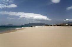 Zandig strand in Spanje. Royalty-vrije Stock Fotografie