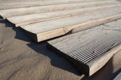Zandig strand van de Oostzee Stock Foto