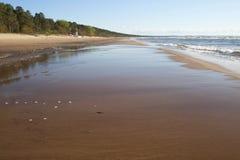 Zandig strand van de Oostzee Royalty-vrije Stock Afbeelding