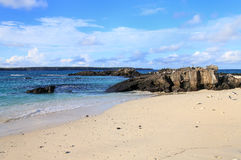 Zandig strand van Groot Darwin Bay, Genovesa-Eiland, de Galapagos Royalty-vrije Stock Fotografie