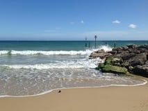 Zandig strandbehang royalty-vrije stock afbeelding