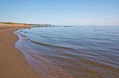 Zandig strandlandschap Stock Foto