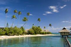Zandig tropisch strand 3 Stock Afbeelding