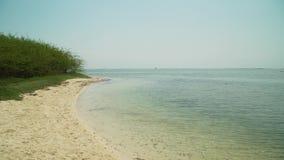 Zandig wit strand filippijnen stock videobeelden