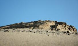 Zandige berg. Stock Foto