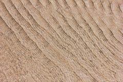 Zandige bodem door duidelijk zeewater Textuur en achtergrond royalty-vrije stock afbeelding