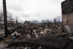 Zandige de orkaan van de nasleep Stock Fotografie