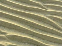 Zandige golven Stock Foto's